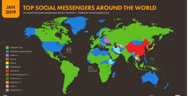 کدام پیامرسان در کدام کشورها طرفدار بیشتری دارد؟