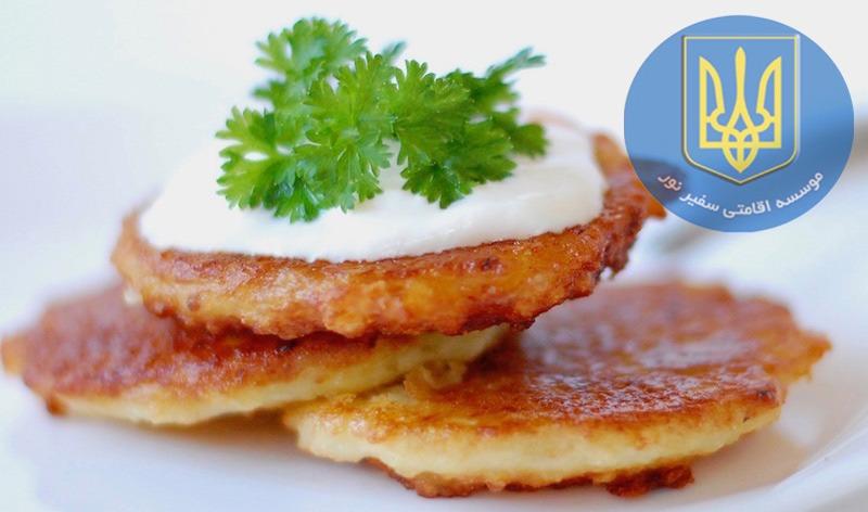 پنکیک سیب زمینی-potato pancakes