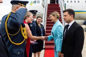 رییس جمهوری اوکراین در واشنگتن